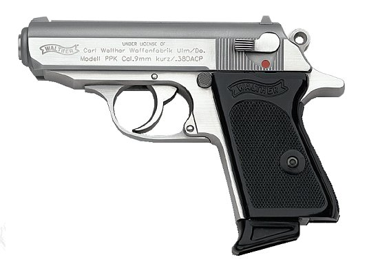 Walther PPK  380acp Stainless, 6 round