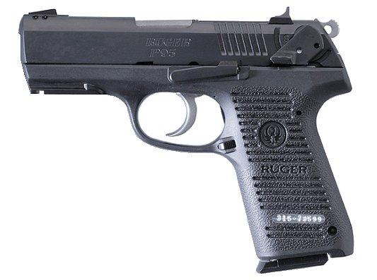 Ruger P95 9mm Black W Rail 15 Round 905 00