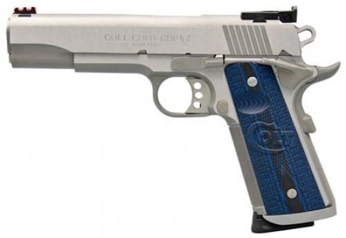 Colt Mfg O5072XE 1911 Single 9mm 5 9+1 Blue G10 Grip
