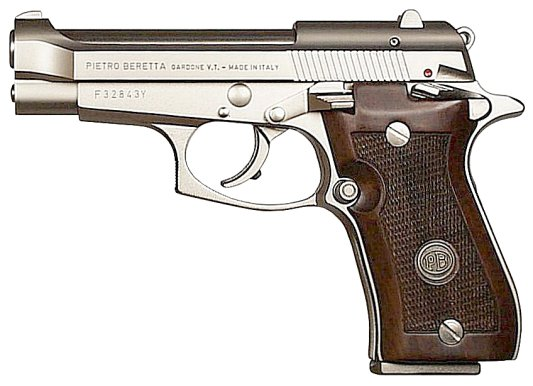 Beretta 85fs Cheetah 380 Nickel 8 Round Wood Grips 798 00