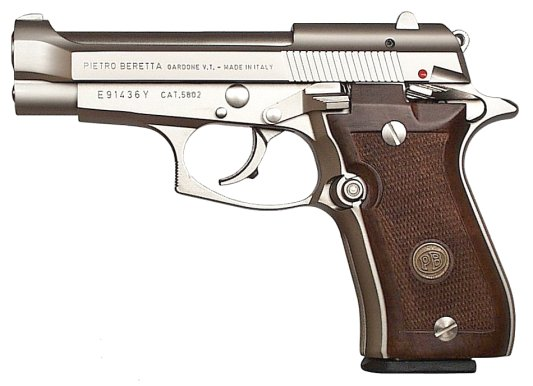 Beretta 84FS Cheetah 380 ACP Nickel, 10 round
