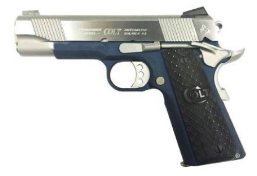 COLT LW COMMANDER .45ACP BLUED FRAME SS/SLIDE G10 GRIPS $960.00