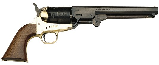 traditions fr18511 1851 navy revolver 44cal 7 375