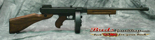 ed94f9bf5416b1 This Auto Ordnance is in excellent condition. It is a semi auto version of  the famous Tommy Gun. It is chambered in .45acp and features a walnut  stock