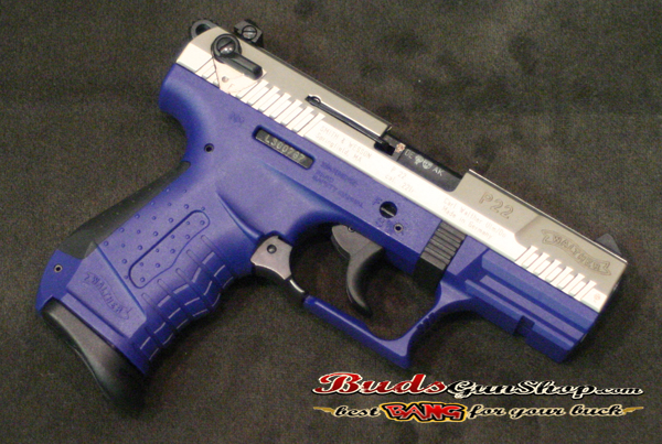 used walther p22 blue nickel 241 00