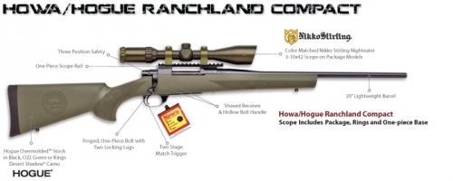 HOWA 223 RANCHLAND COMPACT GK SCOPE PKG BLK STL