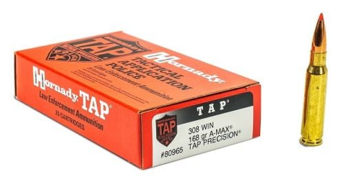 Hornady 80965LE 308 Win 168gr A-MAX TAP 20ct