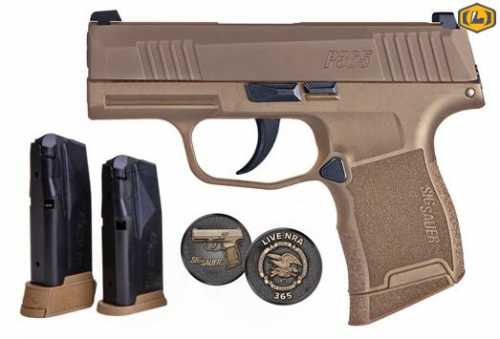 P365 9MM 10+1 COYOTE NRA NS