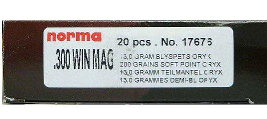 Norma 7X64 156 Grain Oryx 20/Box