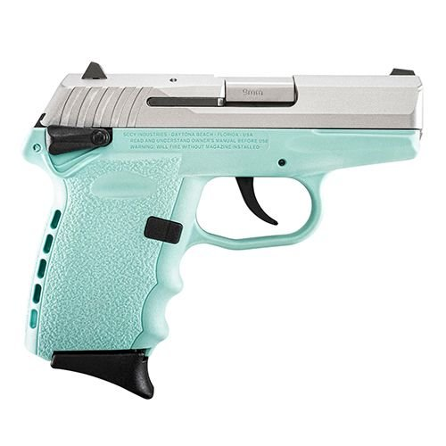 SCCY Industries CPX1TTSB CPX-1 Double Action 9mm 3.1 10+1 Robin Egg Blue Polymer Grip