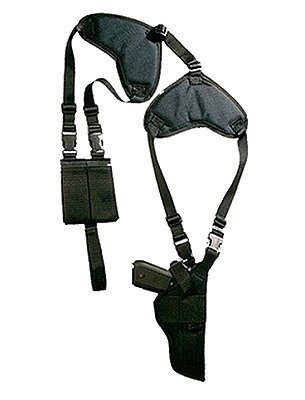 Bulldog Cases Black Shoulder Holster For Beretta/Browning/Co