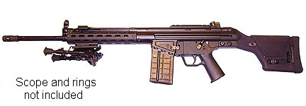 """Ptr91 20 + 1 308 Win. Tactical Rifle W/18"""" Fluted Barrel & B 915200"""
