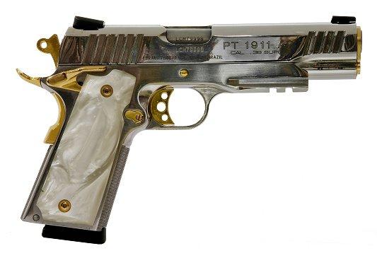 taurus 38 super model 1911 5 barrel stainless finish pearl 648 00