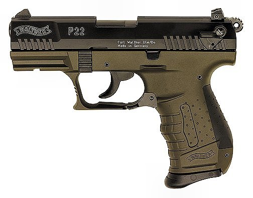 walther p22 22lr 3 4 military od green 317 00