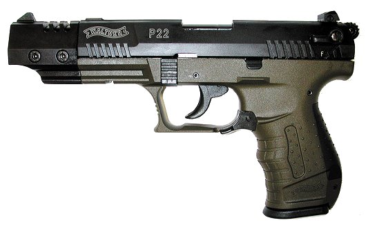 walther p22 22lr 5 military od green 412 00