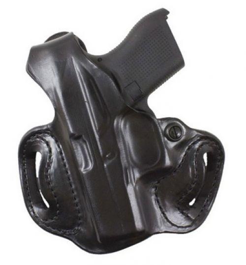 DeSantis 085BA8BZ0 Thumb Break Mini Belt Holster Black Leather RH for Glock 43