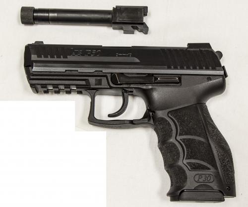 Used heckler koch p30 9mm night sights threaded barrel for Koch 63 od manual