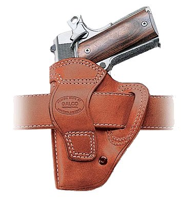Galco Belt Holster w/Open Muzzle For 1911 Style