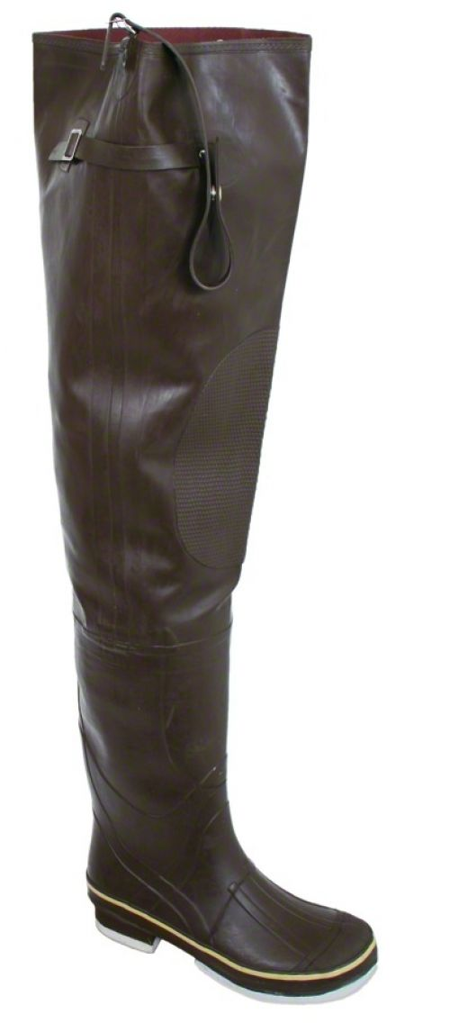 8 quot rubber hip boots with knee pads