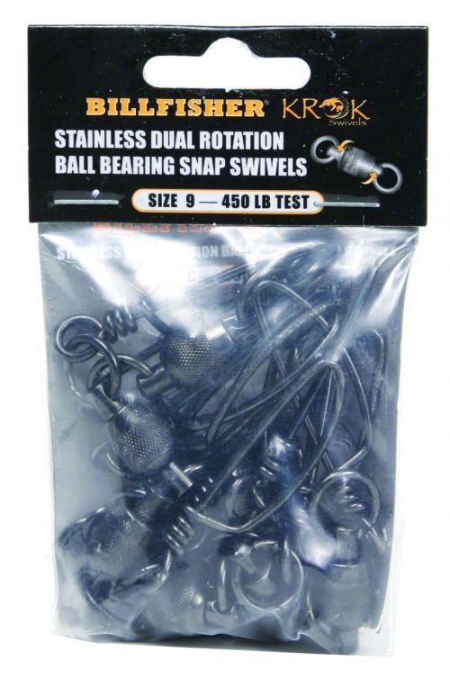 04bbc6b7d91c8d Krok Stainless Steel Ball Bearing Snap Swivels