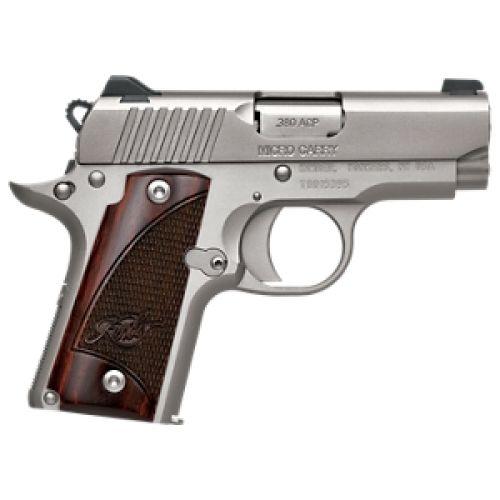 Kimber 1911 Micro Pistols: Kimber Micro Carry Stainless 380acp 6rd Rosewood