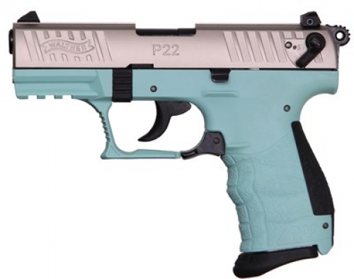 walther p22 22lr nickel angel blue 3 4in 10 1 294 00