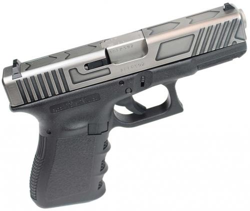 Glock 19 Gen3 9mm Usa Nibone Battle Worn Relief Cut Slide 585 00