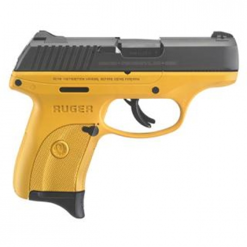 Ruger LC9S 9MM CONTRA YELLOW CERAKOTE GRIP FRA