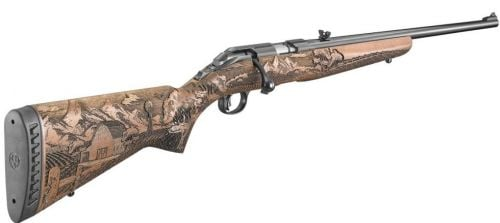Ruger 22mag Blued American Farmer Wood Stk