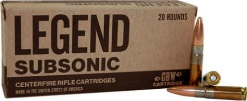 Legend AMMO  300 AAC 200GR  Solid Subsonic 20 rounds