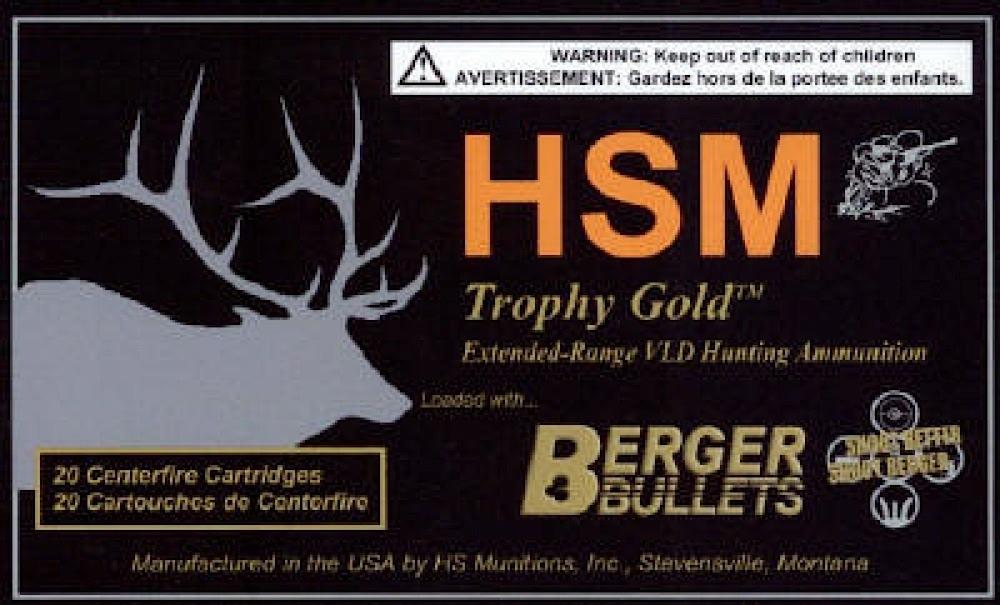 HSM BER7MM08140V Trophy Gold 7mm-08 Rem Mag BTHP
