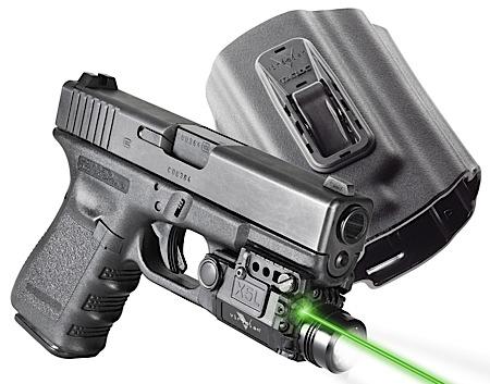 Viridian X5l W Holster Glock 17 19 23 Green Laser