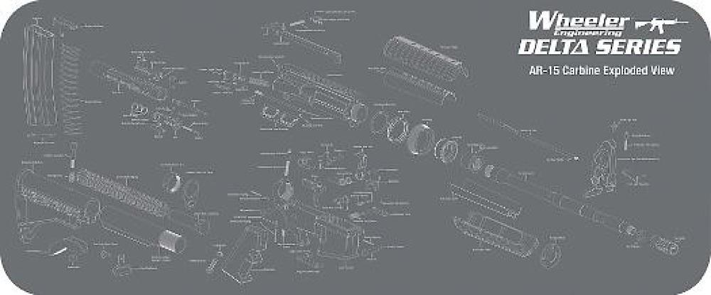 wheeler 156824 ar15 maintenance mat delta $17 03 on ar-15 nomenclature  diagram,