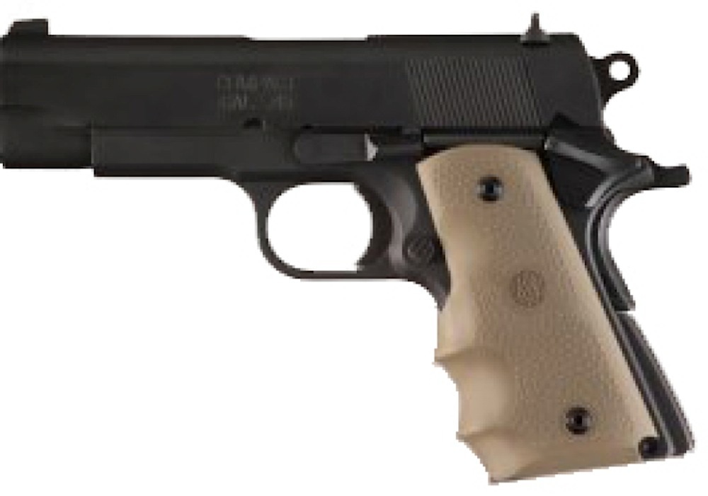 Hogue RUBBER GRIP 1911 OM FG TAN