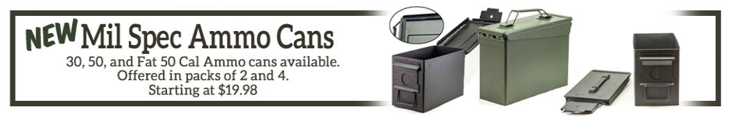 Save on Mil Spec Ammo Cans