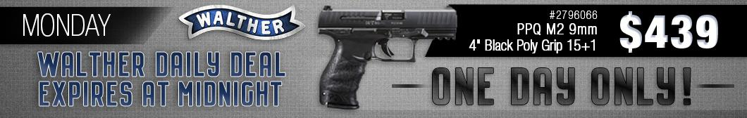 BudsGunShop.com Walther Week Daily Deal! Get the Walther PPQ M2 9mm 4