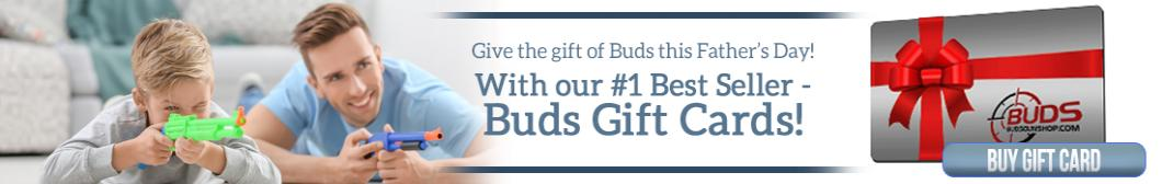 Make it a Father's Day to remember with a gift card from Buds Gun Shop.
