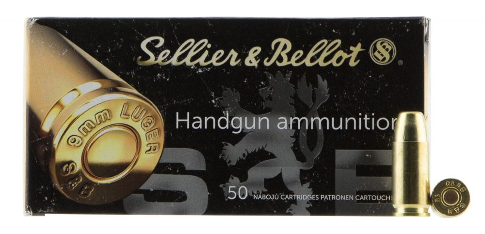 Sellier & Bellot SB9SUBB Handgun 9mm Luger Subsonic 150 GR Full Metal  Jacket 50 Bx/ 20 Cs