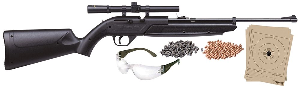 Crosman 760BKT Pumpmaster Air Pistol Kit Pump  177 Pellet/BB Black