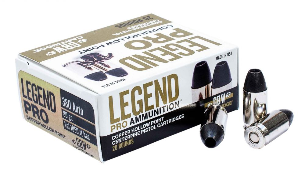 Legend AMMO .380ACP 80GR. Solid Copper Hollow point 20 rounds