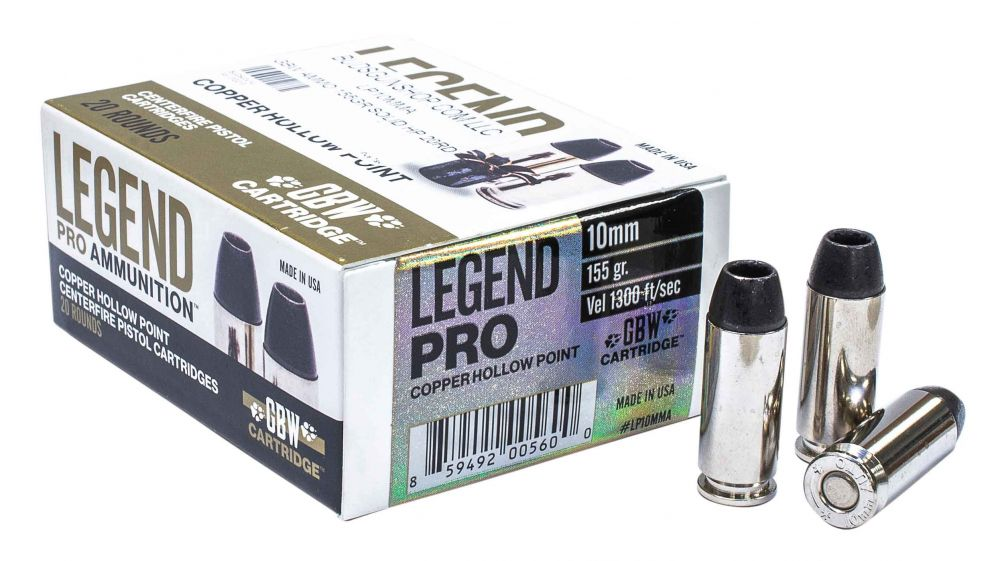 Legend Ammo 10MM AUTO 155GR Solid Copper Hollow