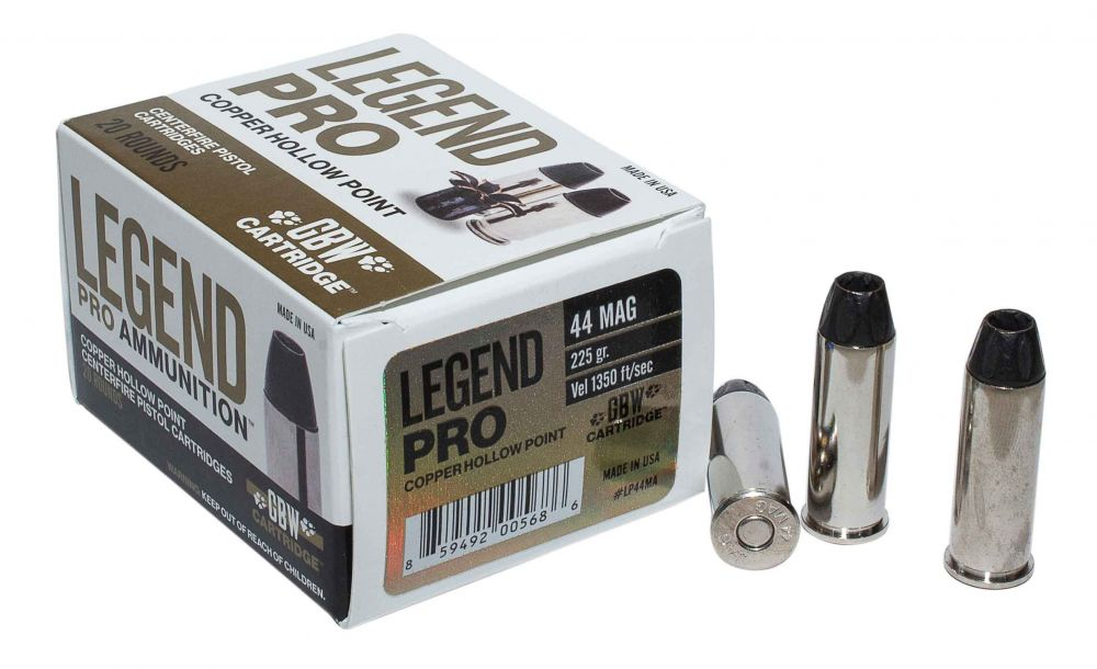 Legend AMMO  44 MAG 225GR Solid Copper Hollow Point 20 rounds