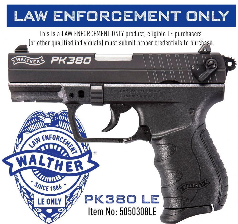 Walther PK380 380ACP Black No Lock
