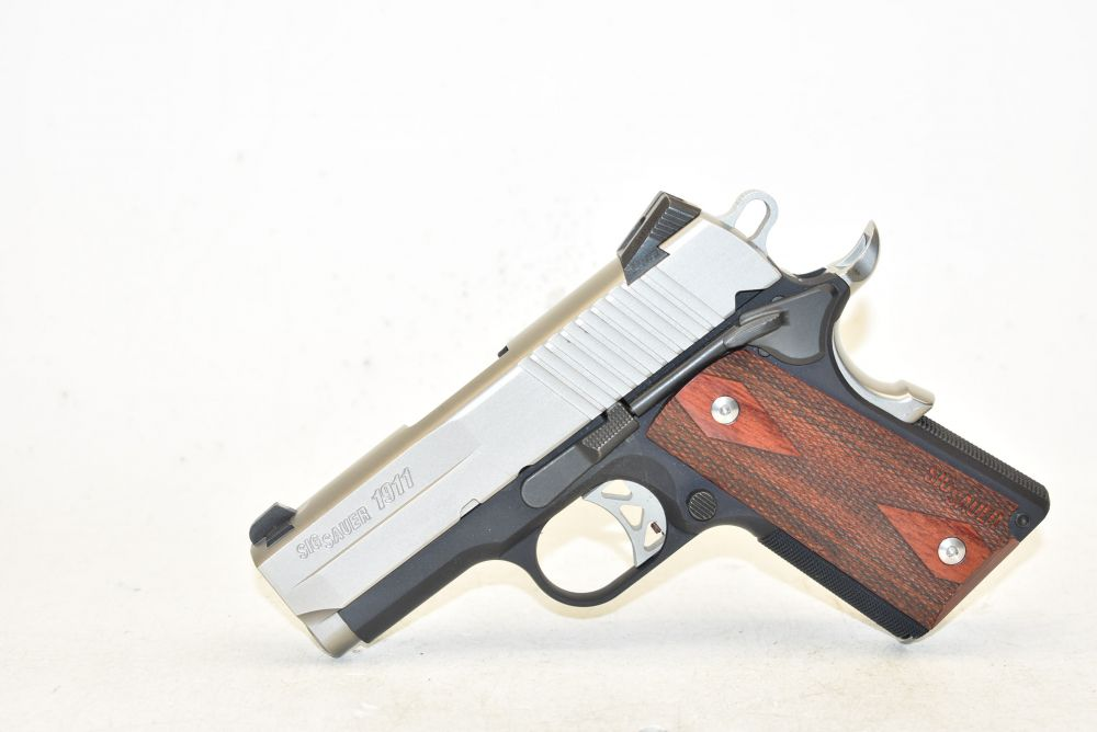 used Sig Sauer 1911 Ultra Compact  45 2 Tone