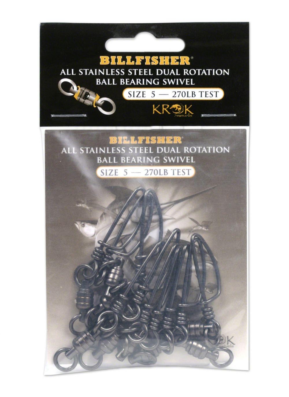 93db3bb9e36431 Krok Stainless Steel Ball Bearing Snap Swivels  35.48