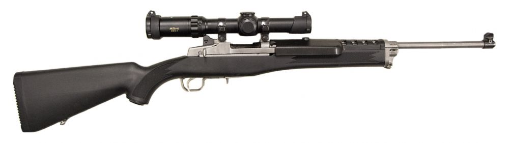 used ruger mini 14 ranch millett scope