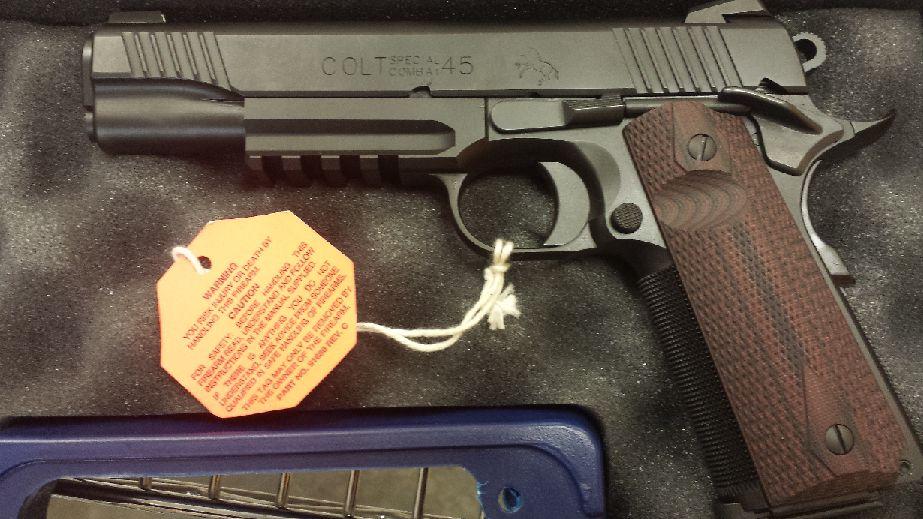 Colt Custom 45acp 8rd 5 G10 Black Cherry Grip 1 of 100