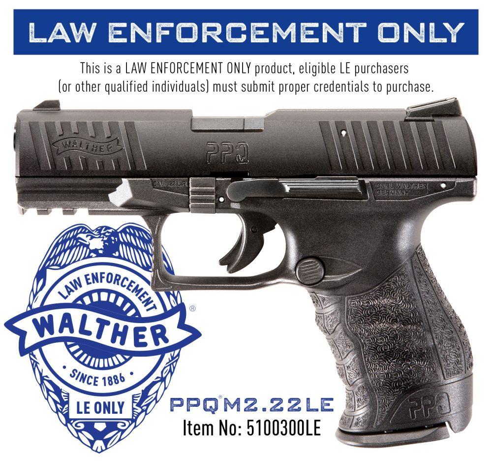 Walther PPQ  22 LR Black
