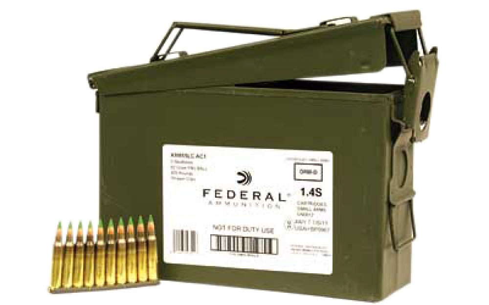 federal 5 56mm nato 62gr fmj xm855lcac1 green tip 420 rds 155 00