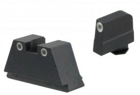 AmeriGlo GL349 Tall Suppressor Height Sight Fits Glock (Except 42) Tritium Green Tritium w/White Outline Front Tritium Green Tr - GL349
